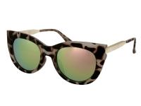 alensa.at - Kontaktlinsen - Damen Sonnenbrille Alensa Cat Eye Havana Pink Mirror